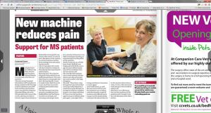 local newspaper article on APS Therapy